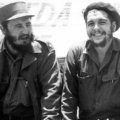 """Kubas Regierungschef Castro (l.), Che Guevara: """"Ziel der Mission"""""""