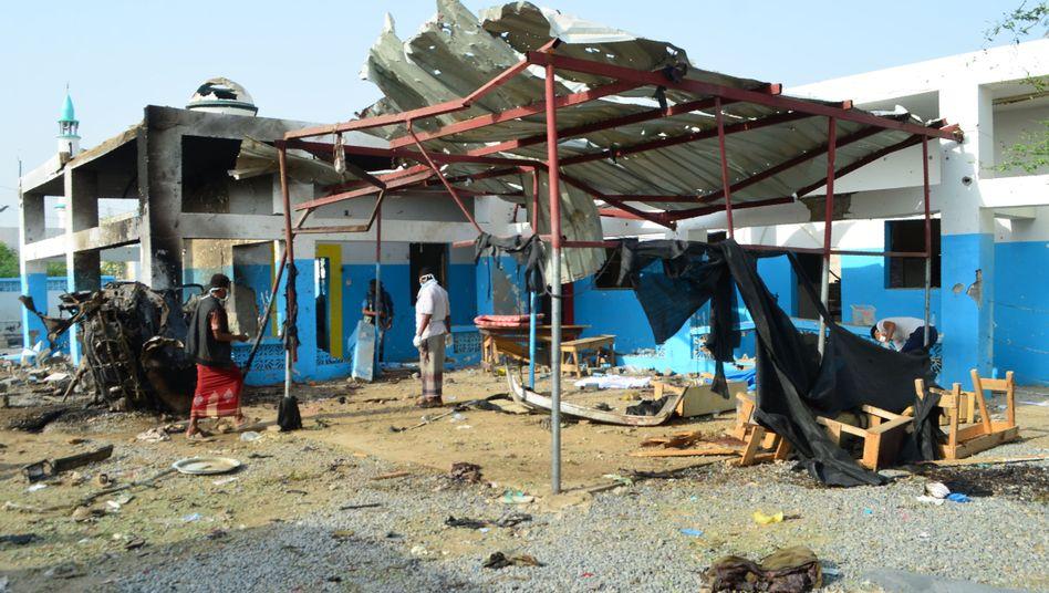 Zerstörtes MSF-Krankenhaus im Jemen
