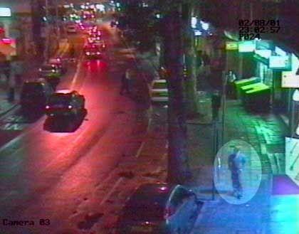 Bild einer Überwachungskamera in London