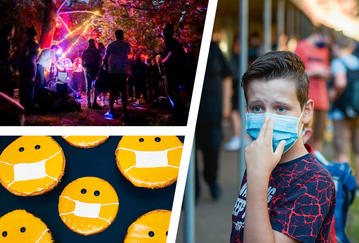 Visitors to an illegal party in Berlin's Neukölln neighborhood, cookies with masks, mask-wearing school children in Schleswig-Holstein: Politicians in Germany are currently debating whether children should be required to wear masks during their lessons. So far, though, the governors of the country's 16 states have been unable to agree on a standard policy.