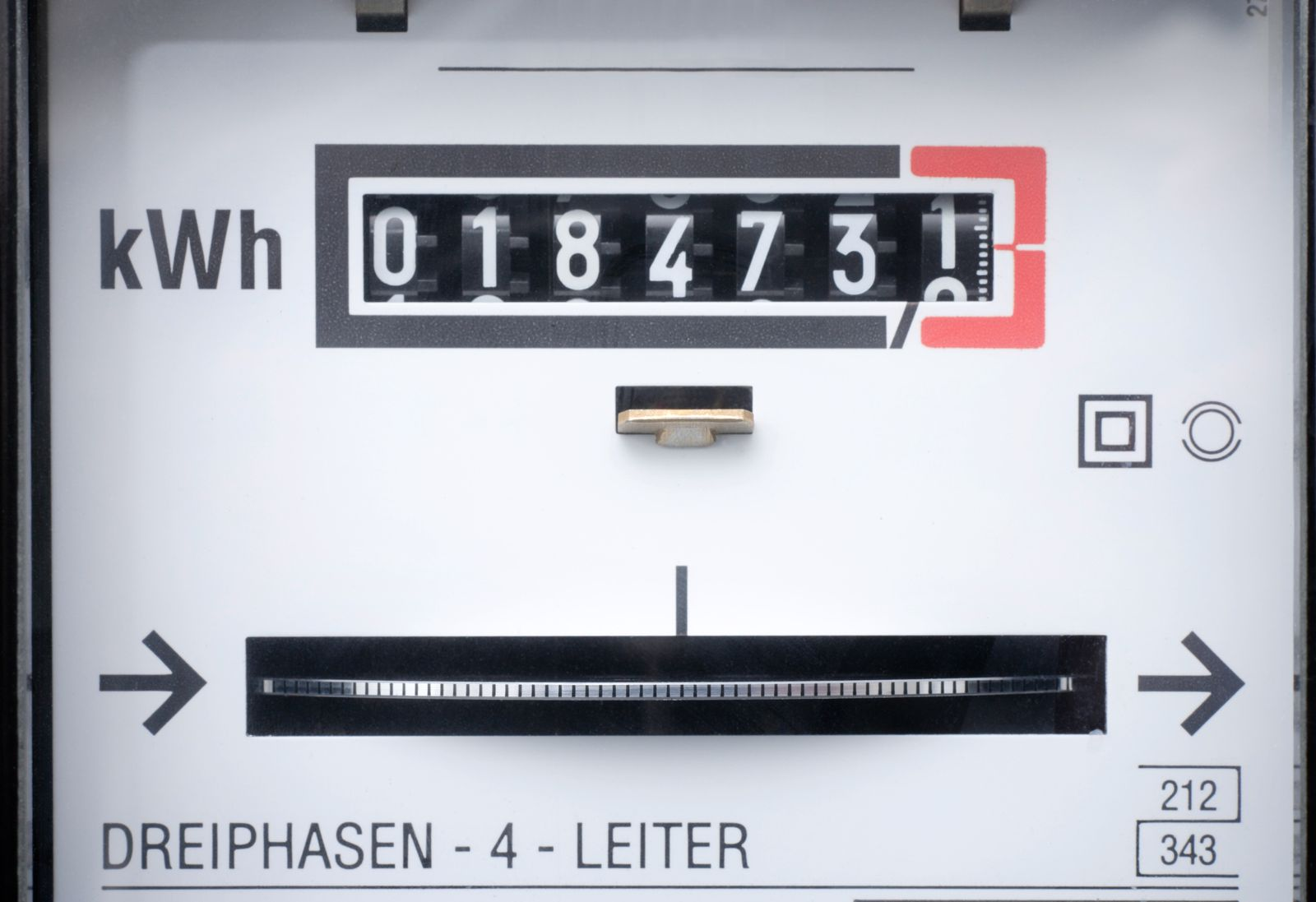 Germany, electricity meter, full frame, close-up