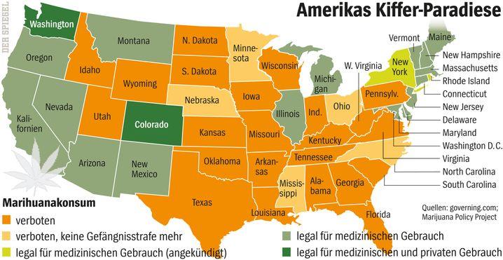 Marihuana-Konsum: Amerikas Kiffer-Paradiese