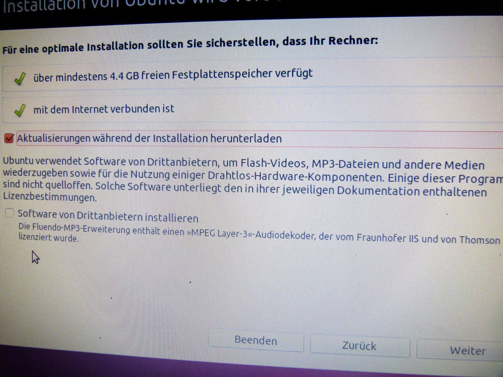 Ubuntu Installation #6a