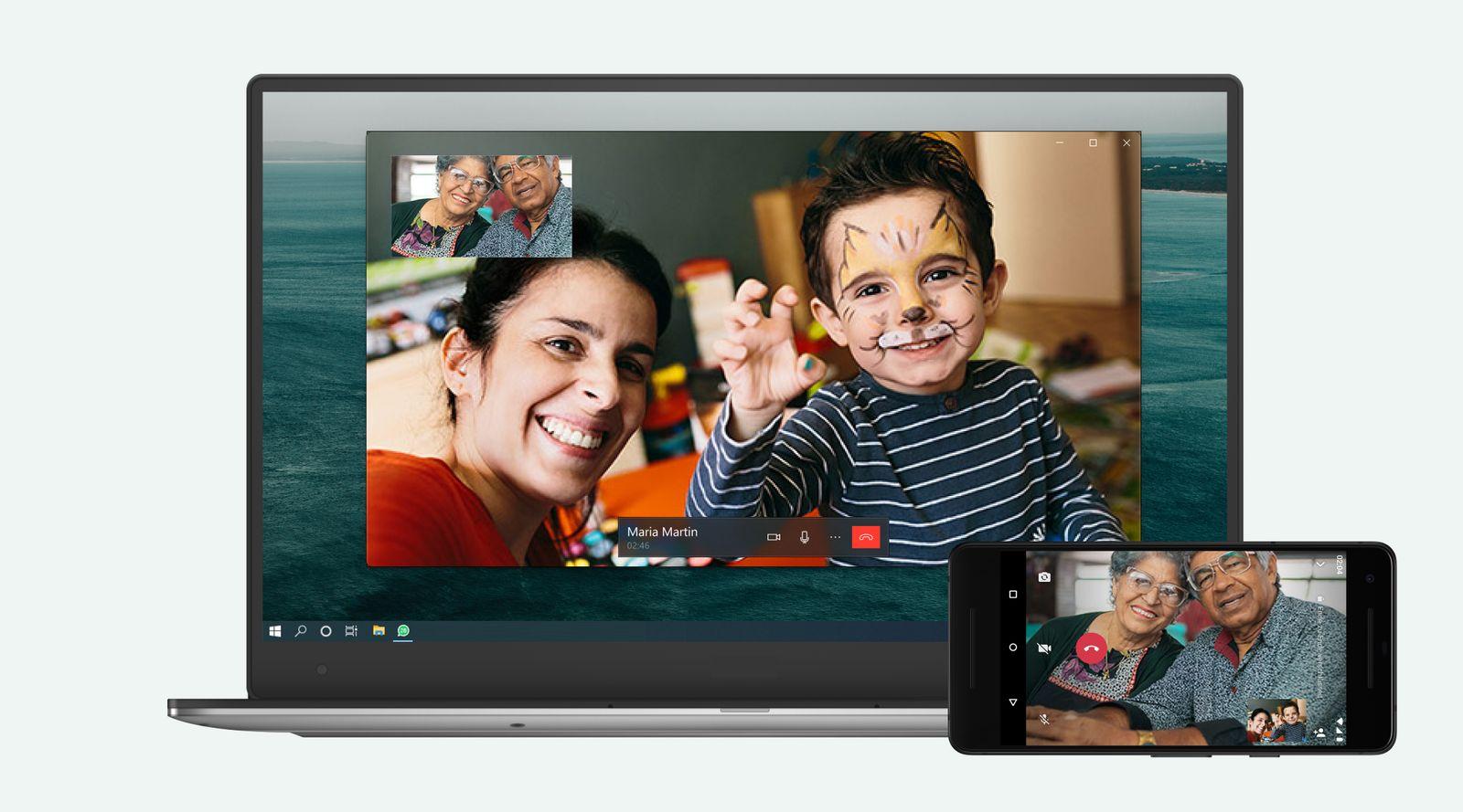 WhatsApp Videotelefonie PC