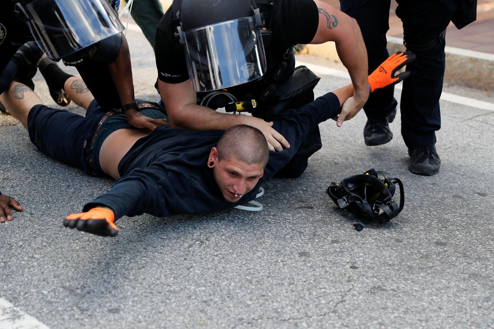 Protest against the death in Minneapolis police custody of George Floyd, in Atlanta