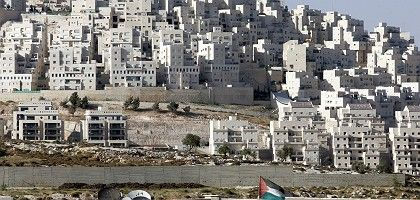 Jewish settlement of Har Homa in east Jerusalem. Many settlers want compensation rather than risk being left behind in any eventual Palestinian state.