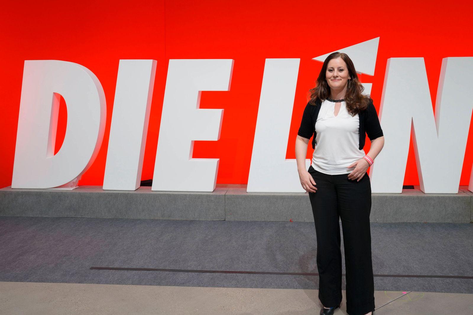 Die LINKE 7. Bundesparteitag in Berlin Aktuell, 20.06.2021, Berlin, Janine Wissler die Spitzenkandidatin der Partei Die
