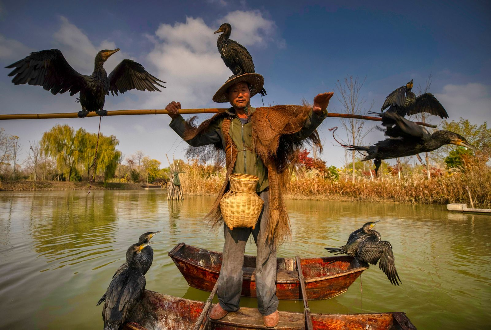 Hongze Lake Wetland in China, Suqian - 15 Nov 2020