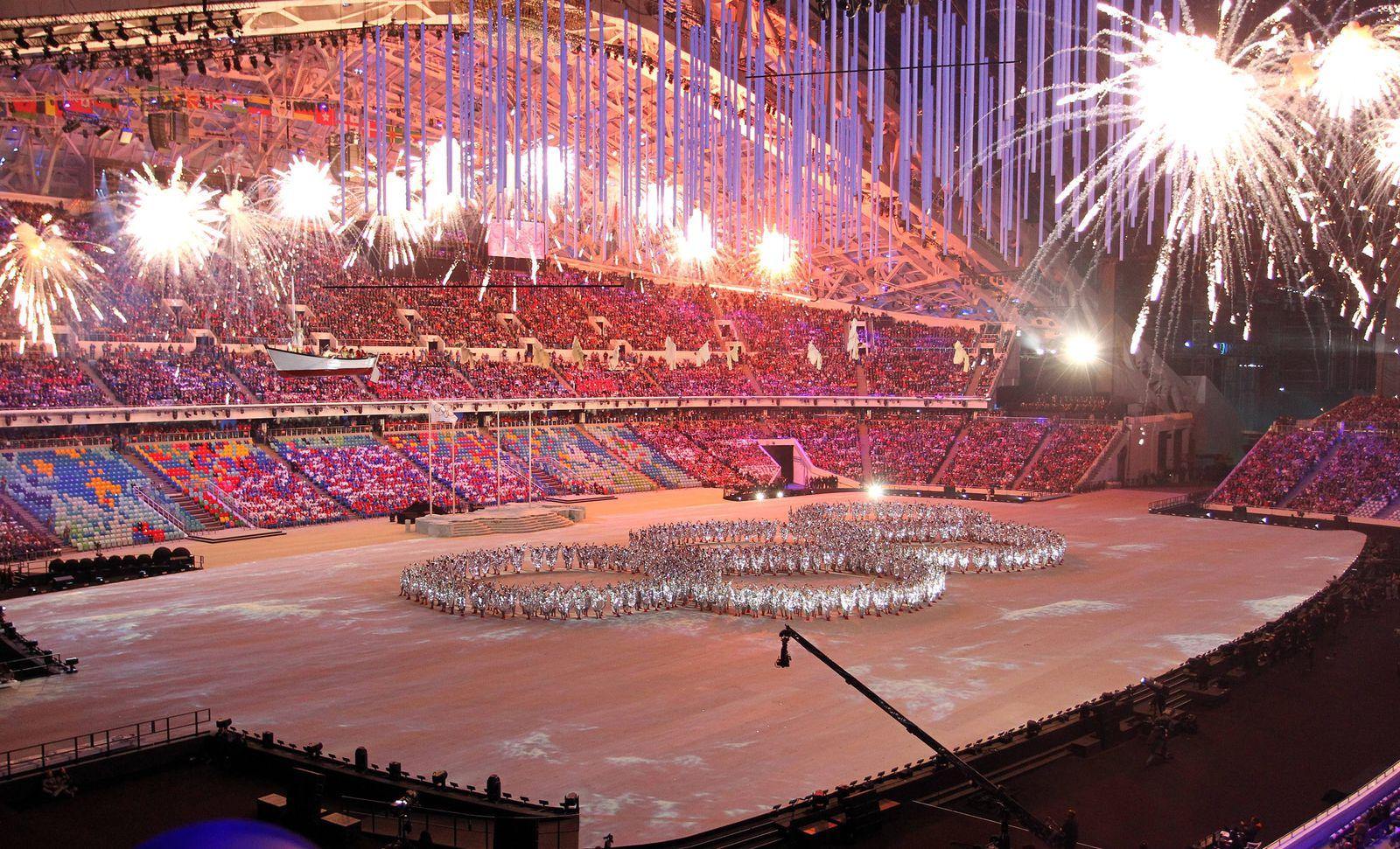 EINMALIGE VERWENDUNG Olympische Spiele 2014 Abschlusszeremonie
