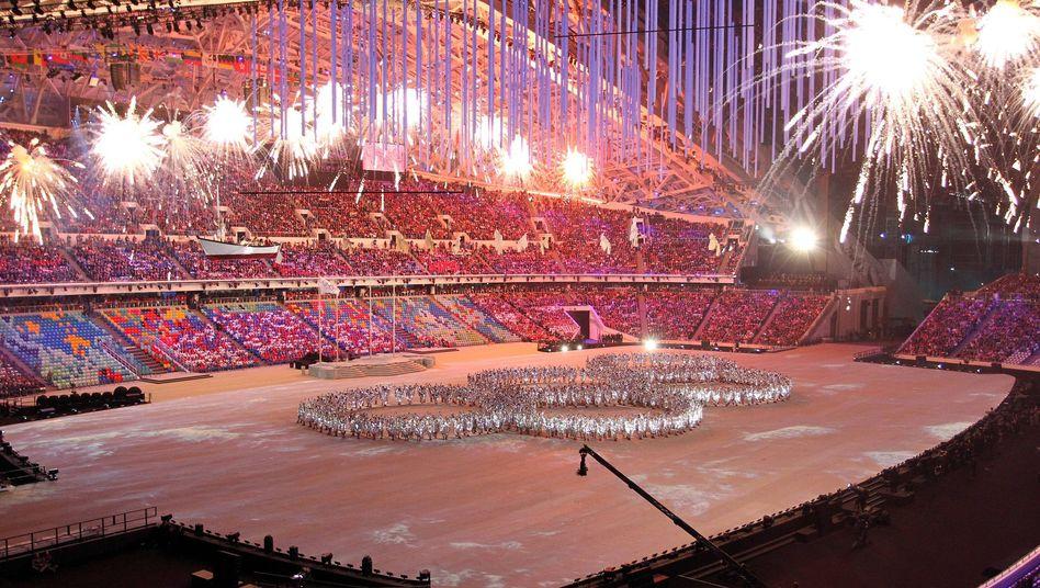 Abschlusszeremonie der Olympischen Winterspiele 2014 in Sotschi