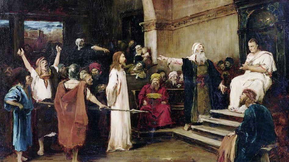 »Christus vor Pilatus« Gemälde von Mihály Munkáscy, 1880