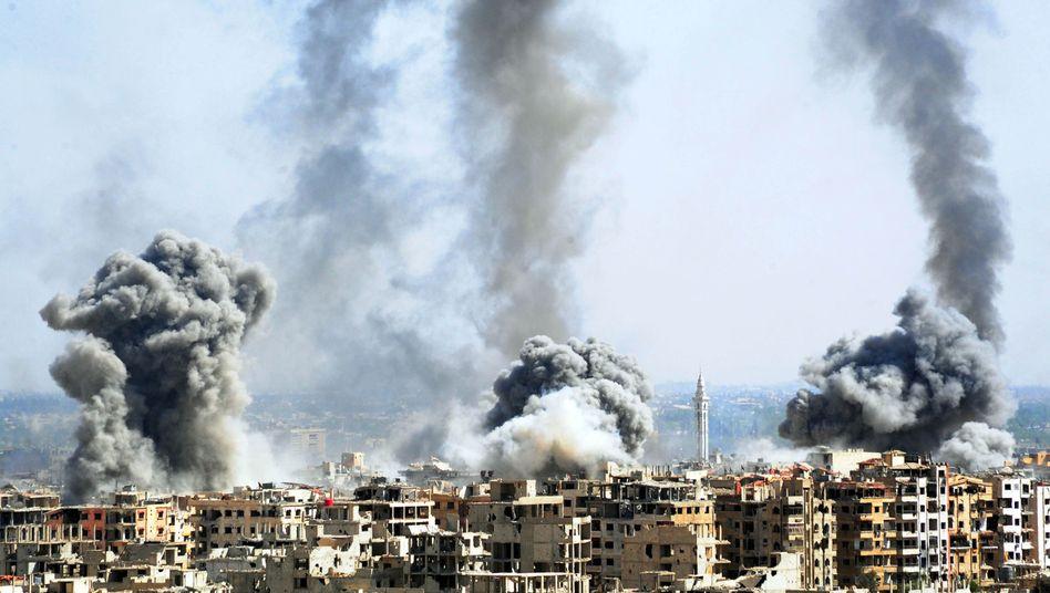 Luftangriffe auf Duma