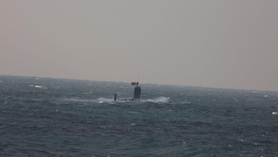 Chinesisches U-Boot nahe der Senkaku-Inseln