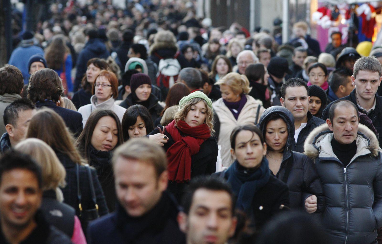 Netzwerkforschung/ Menschenmenge
