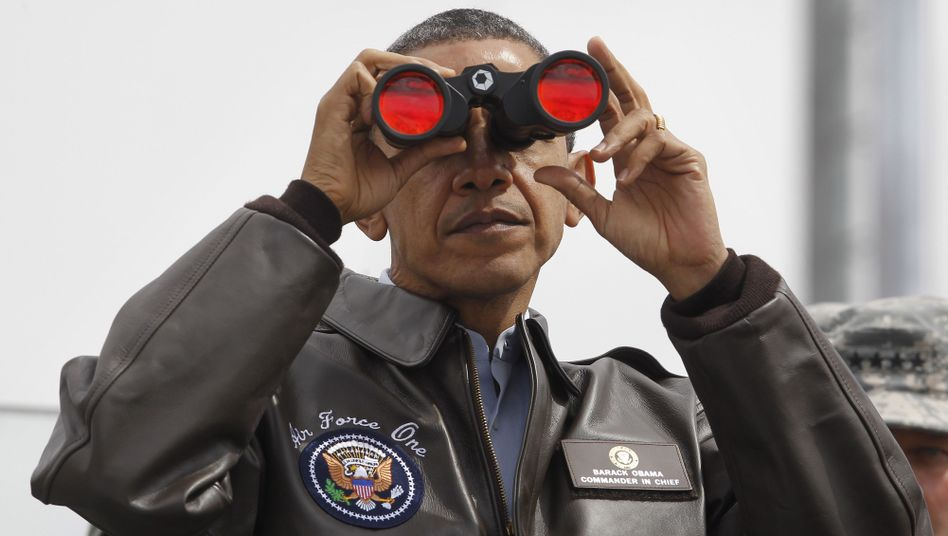 """Präsident Obama an der Grenze zu Nordkorea (2012): """"Keine Truppenbewegungen"""""""