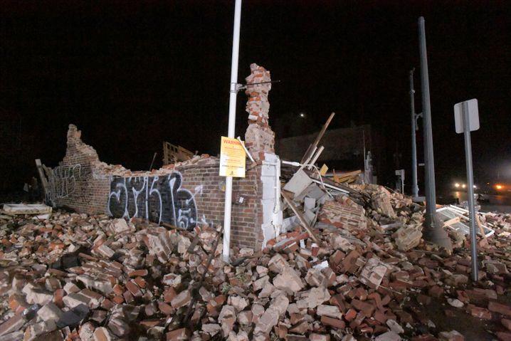 Von »Ida« zerstörtes Haus in New Orleans