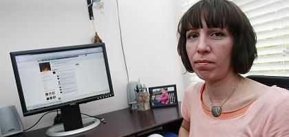 Alicia Istanbul in ihrem Büro: Facebook kappte die Verbindung