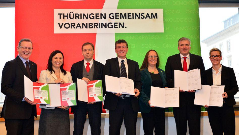 Koalitionäre in Thüringen: Spannung vor der Wahl am Freitag