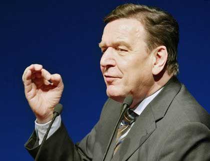 Schröder bei seinem Auftritt in Goslar
