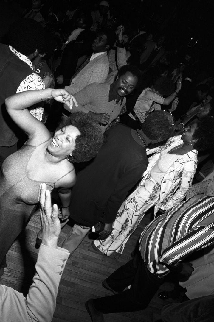 Lektorin Morrison bei einer Party in New York 1974
