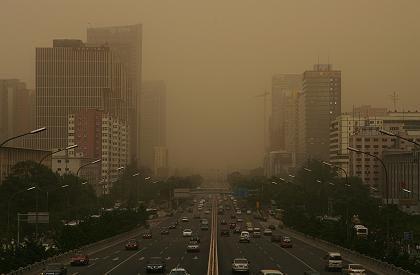 """Peking (Archivbild 20.05.2008): """"Perfekter"""" Luftverschmutzungsindex"""