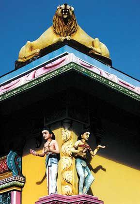Hindutempel: Auf Mauritius leben Hindus, Christen und Muslime