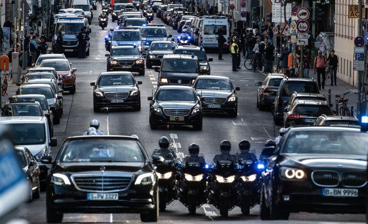 Konvoi des türkischen Präsidenten in Berlin