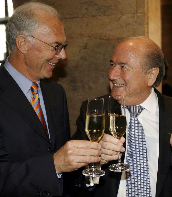 Fifa-Präsident Blatter (r.) und Beckenbauer: Vier-Augen-Gespräch