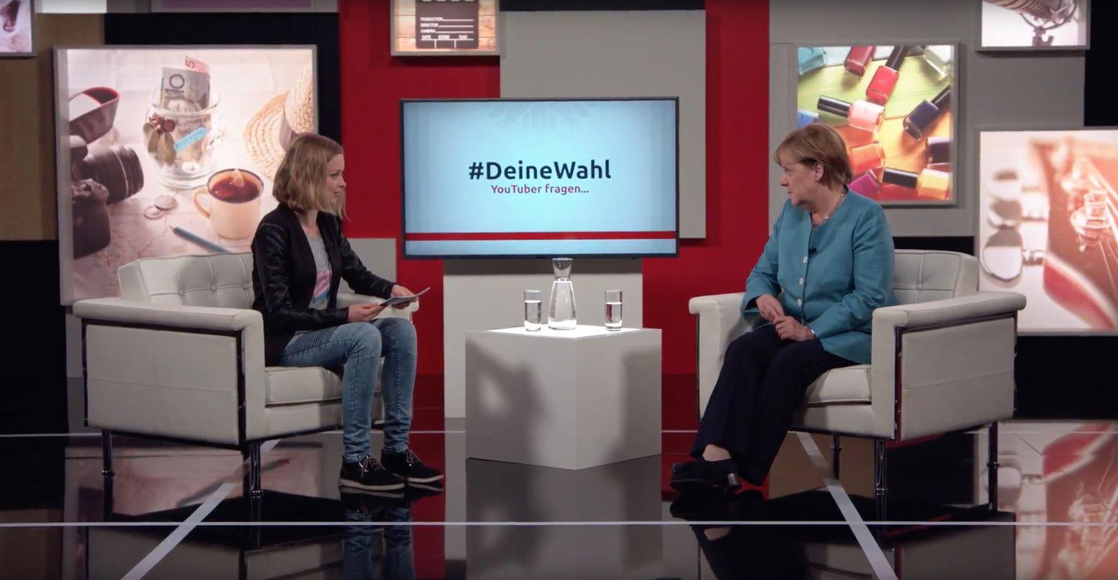 EINMALIGE VERWENDUNG Screenshot/ Deine Wahl/ Merkel
