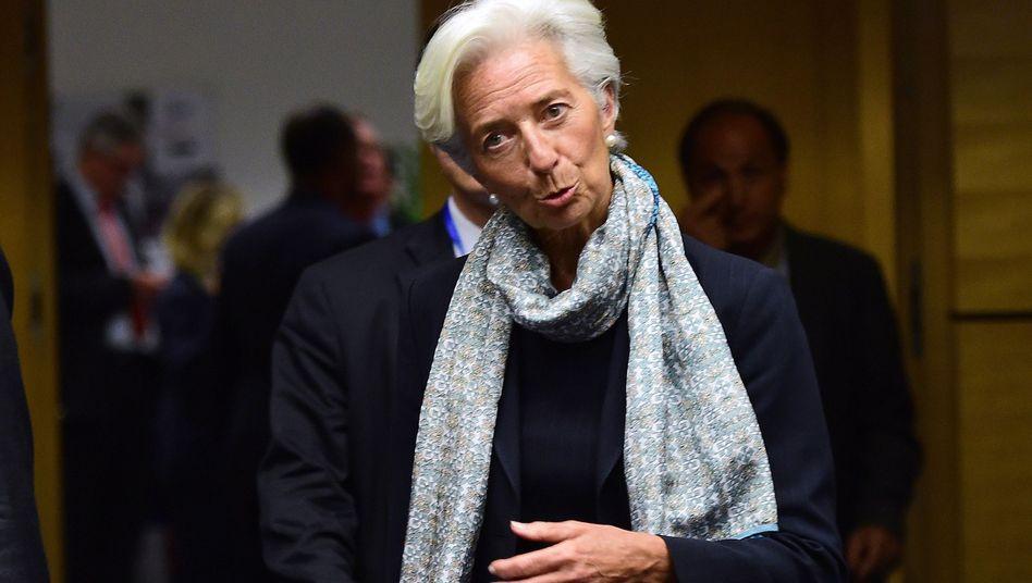 """IWF-Chefin Christine Lagarde: """"Sie können kein Programm mit Versprechen aufbauen"""""""