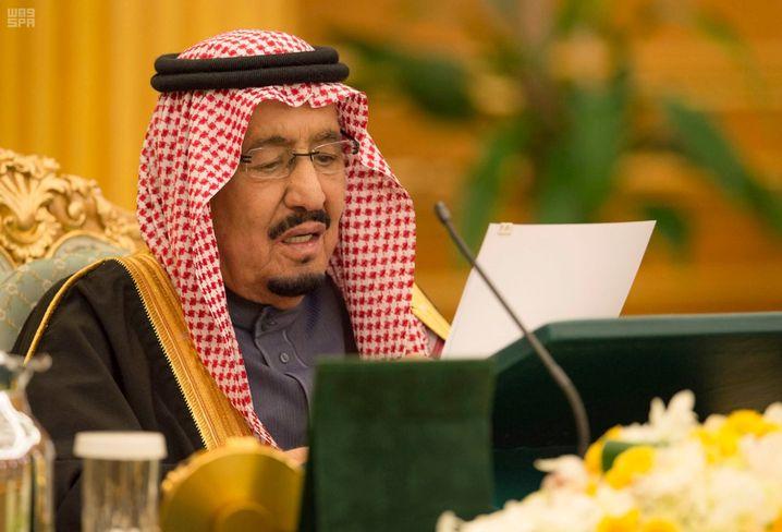 König Salman im Yamama-Palast