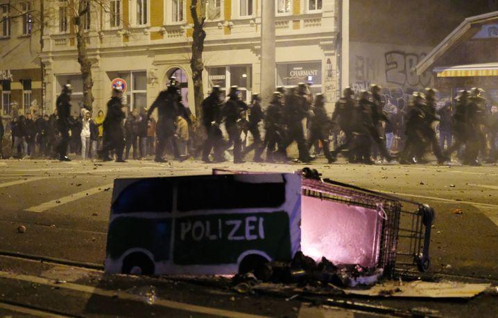 Leipziger Stadtteil Connewitz: In der Silvesternacht kam es hier zu Zusammenstößen zwischen Linksautonomen und der Polizei