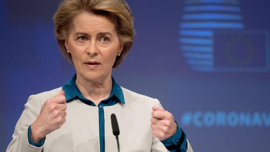 """Kommissionschefin von der Leyen: """"Das kann nicht nach dem Motto gehen: 'Wer das Geld hat, hat den Impfstoff'"""""""