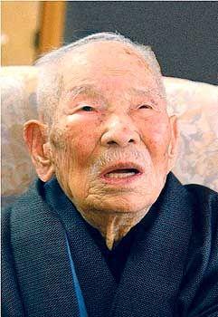 Yukichi Chuganji, als er noch der älteste Mann der Welt war