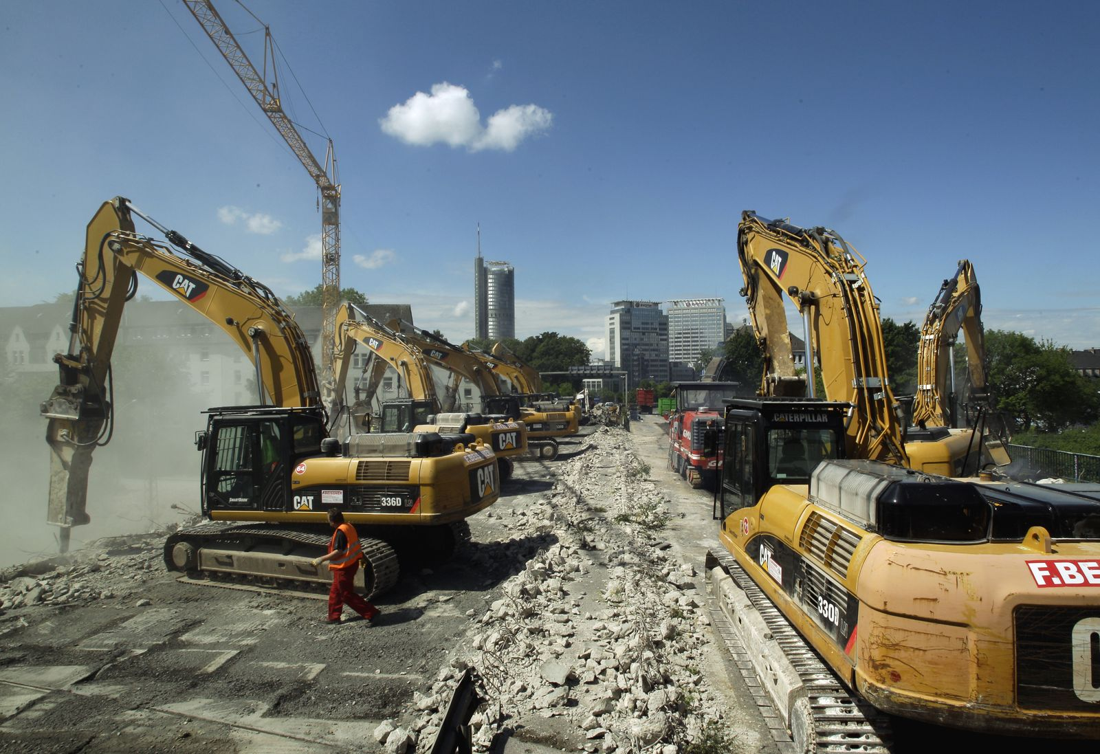 Investitionen/ Infrastruktur/ Baustelle