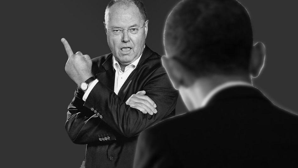 Brisantes Foto von Steinbrück: Finger frei