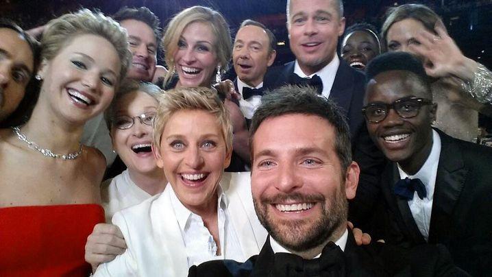 Oscar-Selfie: Diverse Promis auf einem Bild