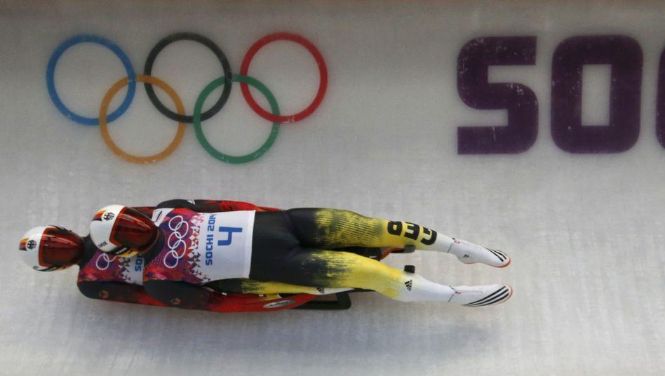 Rodler Wendl und Arlt: Gold im Doppelsitzer