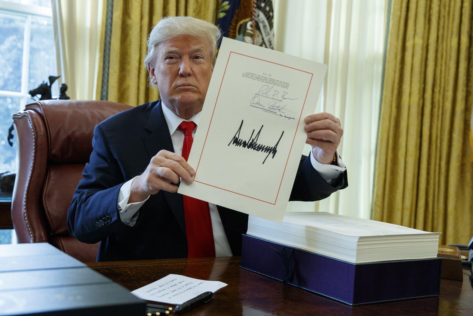 EINMALIGE VERWENDUNG Trump/ tax bill