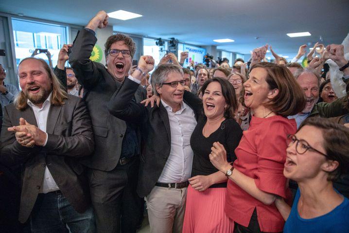 Jubel bei den Grünen, den echten Siegern dieser Wahlen