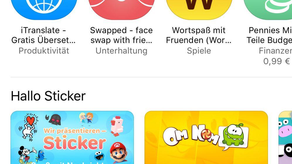 iOS 10: Apples neuer Sticker-Store