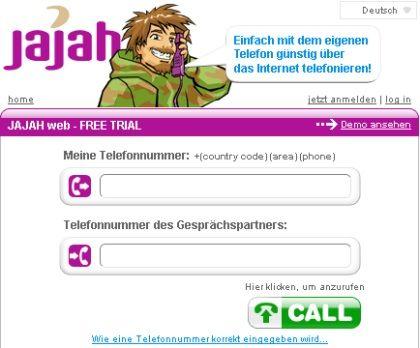 """Jajah: Über das Internet vermakelte Telefonate zwischen """"normalen"""" Telefonen"""