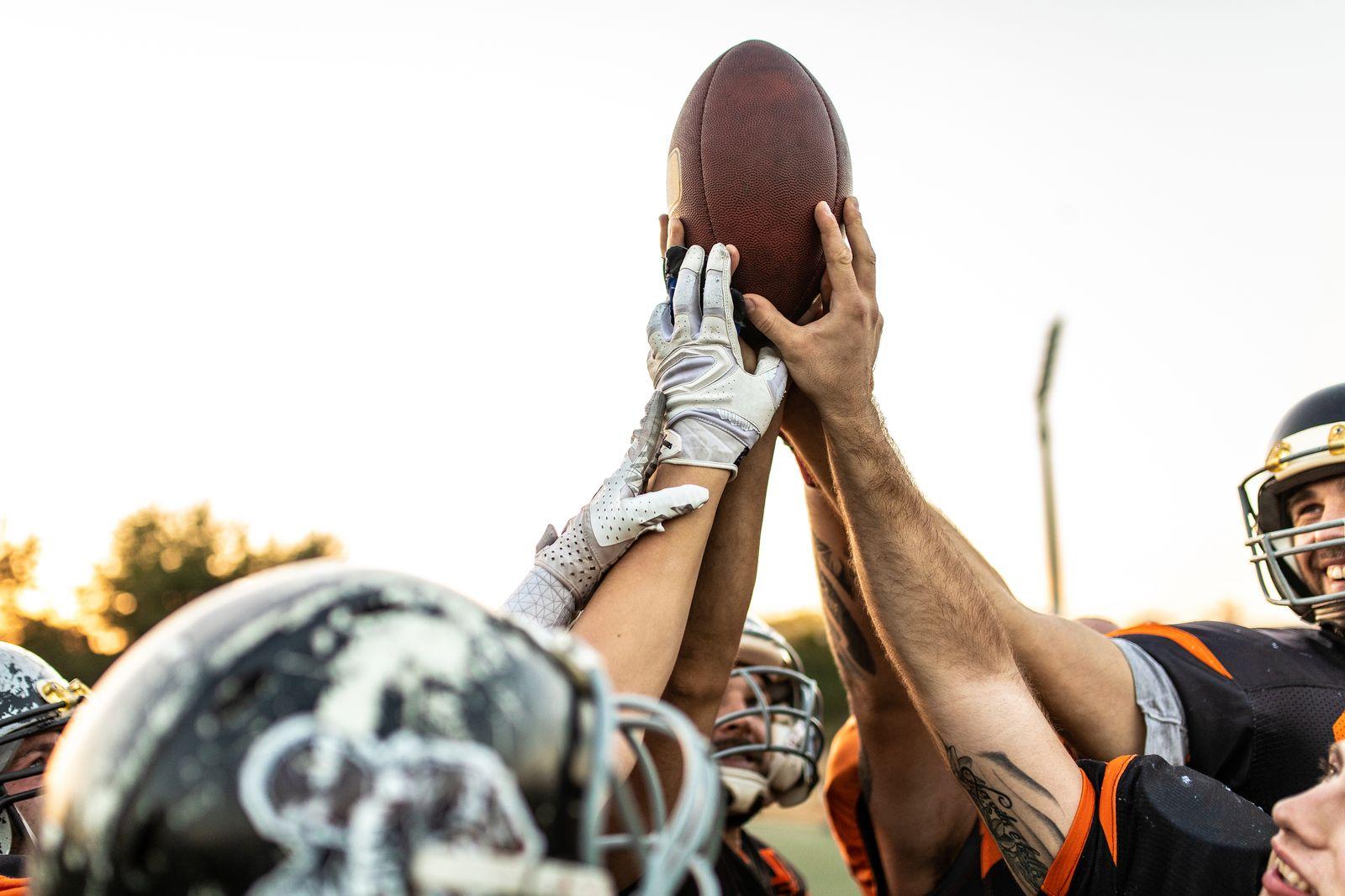 EINMALIGE VERWENDUNG American Football