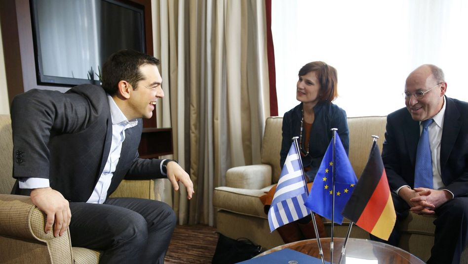Tsipras mit Linken-Politikern Kipping und Gysi: Ein Termin nach dem anderen