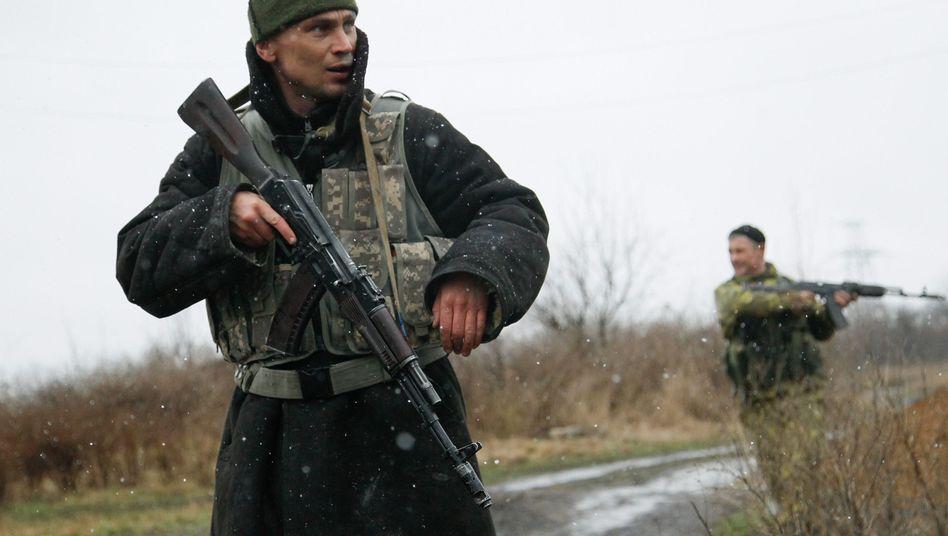 Kämpfer der prorussischen Separatisten