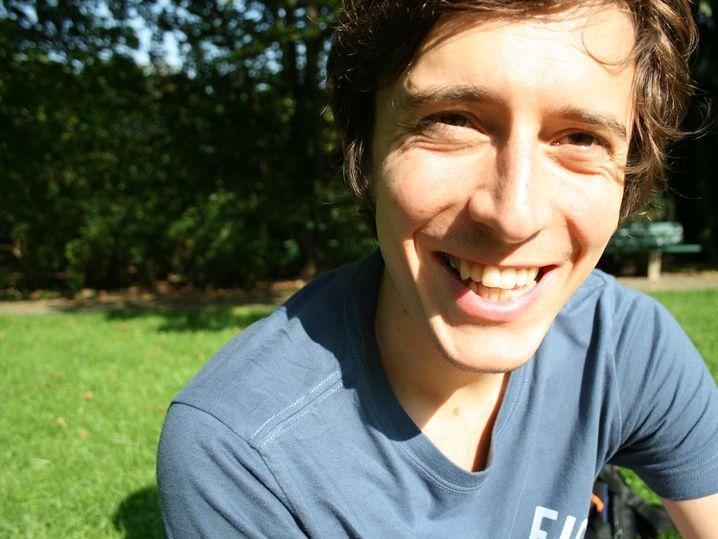 Jonathan Winter, 26, hat nach dem Bachelorstudium als Projektmanager beim Goethe-Institut angefangen