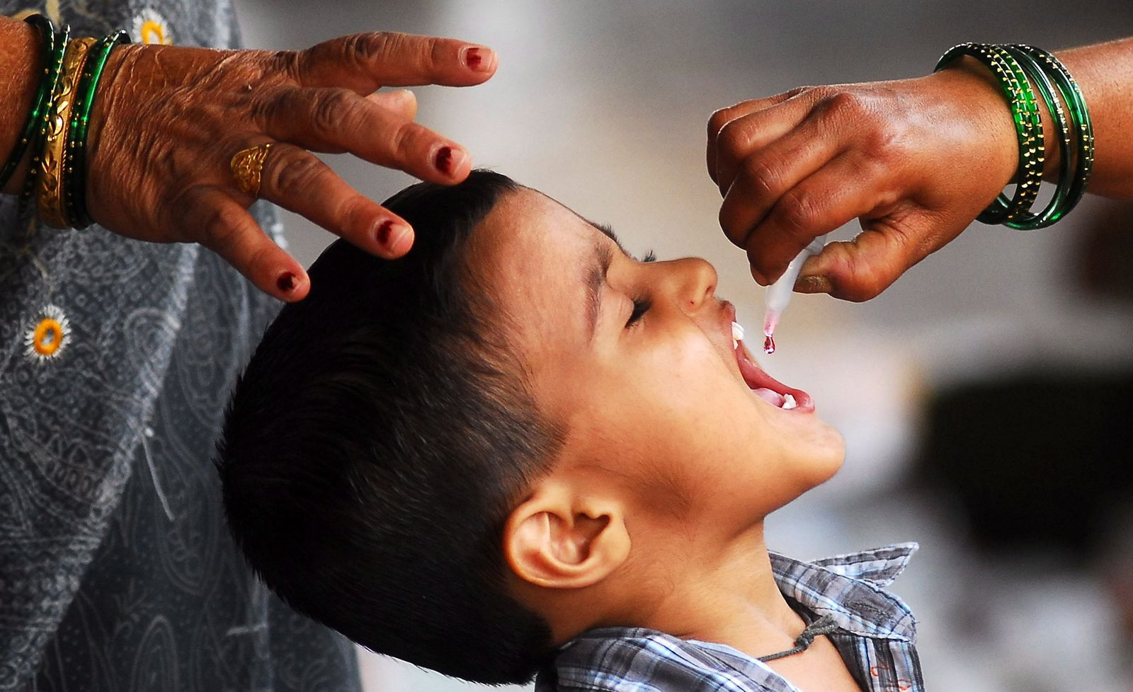 Indien / Polio-Impfung