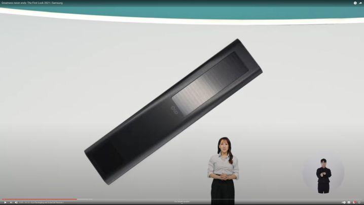 Bitte immer in die Sonne legen: die neue Samsung-Fernbedienung