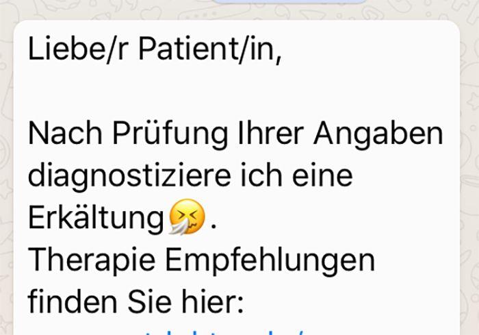 Arztgespräch per WhatsApp