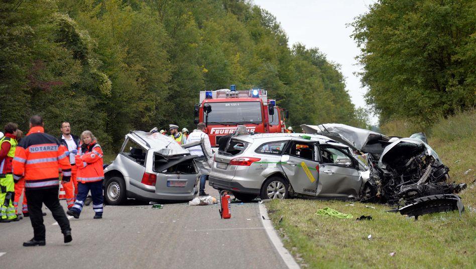 Tödlicher Crash im September 2015 in Baden-Württemberg: Anstieg um 2,9 Prozent